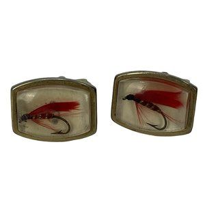 Vintage Cuff Links 1950s Fly Fishing Victorian Rev